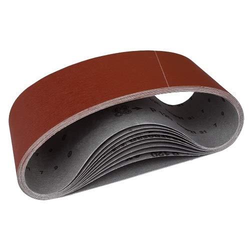 Set 12 Gewebe Schleifbänder 100 x 915 Korn 40 bis 400