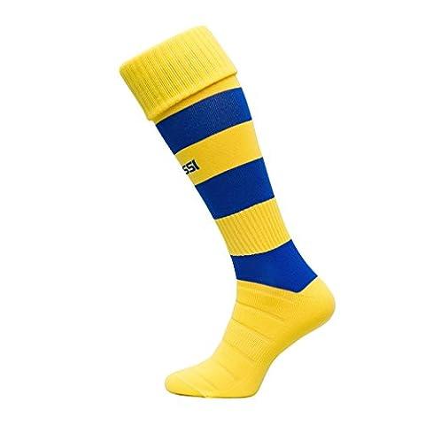 Modèle C Chaussettes de football 100 % respirantes Plusieurs couleurs, Jaune/bleu, 44-46
