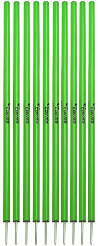 Cawila Slalomstangen, 10er Set, verschiedene Farben (grün)