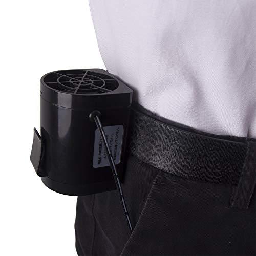 Hivexagon Mini Hochleistungs Tragbarer Gürtel Clip USB Ventilator Max Windleistung bis zu 12 m/s für Heißer Sommer Camping Angeln Outdoor-aktivitäten D-HG279 -