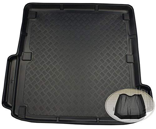 ZentimeX Z3337868 Geriffelte Kofferraumwanne fahrzeugspezifisch + Klett-Organizer (Laderaumwanne, Kofferraummatte)