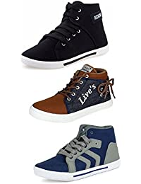 Tempo Men's Combo Pack Of 3 Sneakers Shoes (BXR, LIVES & ARW)