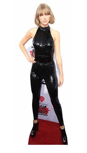 Celebrity Standee Taylor Swift Cat Suit Cut Out, Multi-Colour