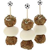CiboWares 12 cm Football Ball Picks, Pack of 100