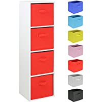 Hartleys 4 Tier White Cube Unit - Choice of Storage Boxes