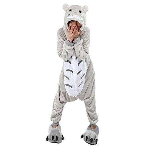 Moolee Animal style kigurumi Pyjama Adulte Anime pyjamas tenue Onesie Cospaly Fête Flannels costume(XL, totoro)