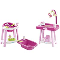 Ecoiffier Toys - 2878 - 3 in 1 Nursery - Imitation Game - From 18 Months - Made in France