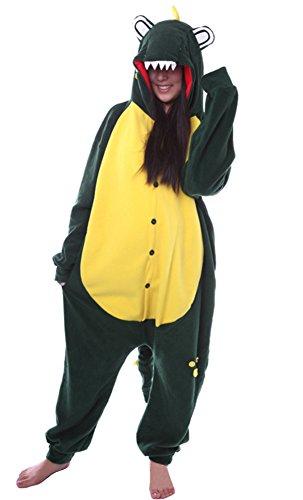 Imagen de dato ropa de dormir pijama cocodrilo verde cosplay disfraz animal unisexo adulto