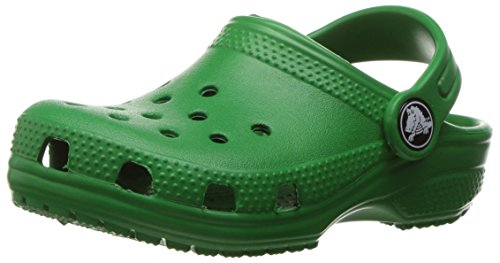 Crocs classic clog k, sabot unisex-bambini, verde (kelly green), 20.5 eu