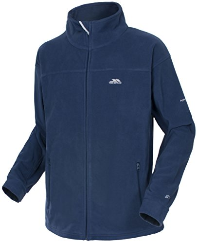 Trespass Bernal, Navy Tone, M, Warme Fleecejacke 300g/m² für Herren, Medium, Blau (Full Fleece Navy Zip)