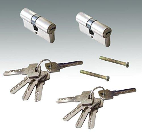 Türzylinder Zylinder 60mm mit 5 Schlüssel