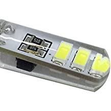 YTJ G4 LED Regulable Bombilla COB 2W G4 Lámpara Bombilla (Luz Blanco Frío), AC/DC 12V, 210lm 6000K/ La Luz de 360°/Hecho de Silicona