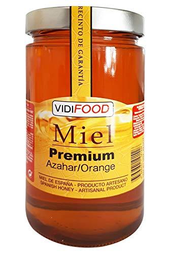 Miel de Azahar Premium - 1kg - Producida en España - Alta Calidad, tradicional & 100{eb5dd1351962b1a266dc6d0f1aeda8a5b319311548676c042b02d3aedbe452b4} pura - Aroma Floral Intenso y Sabor Fuerte y Dulce - Amplia variedad de Deliciosos Sabores