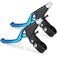 Dewin Manillas de Nivel de Freno, Aleación de Aluminio, para Bicicleta de Montaña, Manillar de Bicicleta, 4 Colores, 1 par, Azul