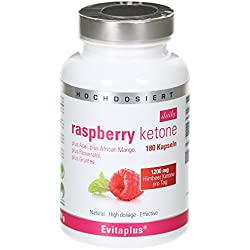 Raspberry Ketone DAILY 1.200 mg 180 Kapseln + Acai + Green Tee