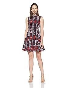 4602dffb53a Tommy Hilfiger Women's A-Line Dress (A6AJV009XS_Navy Blazer and Multi)