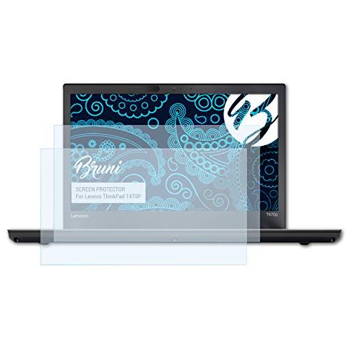 Bruni Schutzfolie für Lenovo ThinkPad T470P Folie, glasklare Bildschirmschutzfolie (2X)