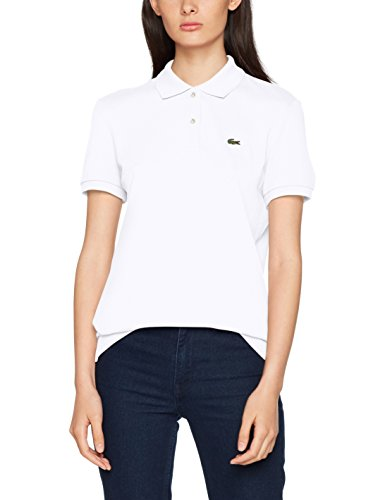 sports shoes 05964 85342 Lacoste Women's Pf7839 Polo Shirt, White (Blanc), 42 (Manufacturer Size: 42)