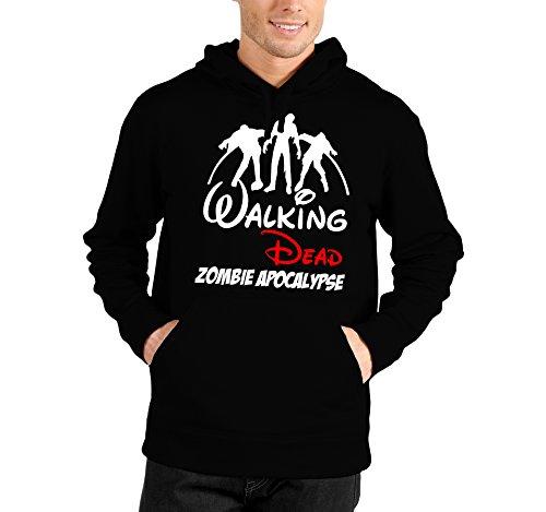 Felpa con cappuccio Walking Dead Zombie Apocalipse - The Walking Dead - humor - in cotone Nero