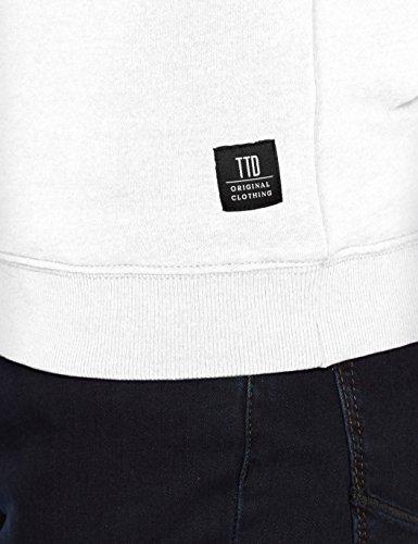 Tom Tailor Nos Sweat Hoody, Cappuccio Uomo Bianco (White 2000)