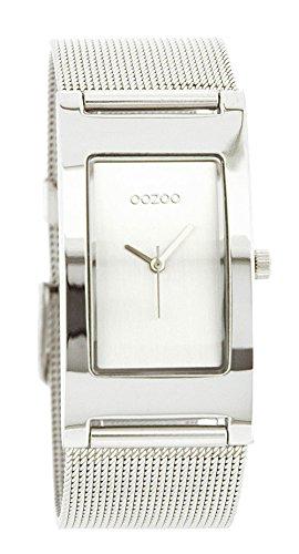 Oozoo c1995-Uhr für Frauen, Metall-Armband Silber
