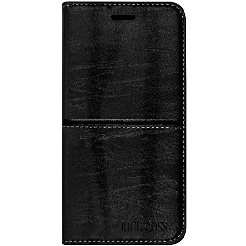 Brynn Premium Leather Richboss Flipcover for Xiaomi Redmi Note 6 Pro Black (Colour May Vary)