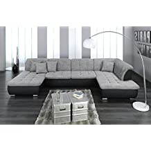 wohnlandschaft u form grau bestseller shop f r m bel und. Black Bedroom Furniture Sets. Home Design Ideas
