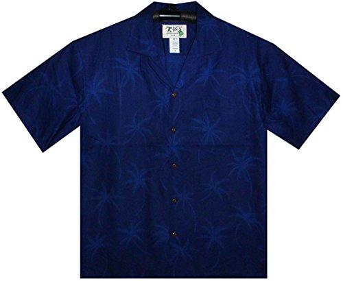 KYs-Original-Camisa-Hawaiana-Caballeros-S-4XL-Manga-Corta-Bolsillo-Delantero-Estampado-Hawaiano-Sombra-de-palma