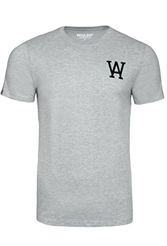 T Shirts Männer graue Basic Tshirt - aus 60% Baumwolle Herren T Shirt Uni kurzer Arm T-Shirt -