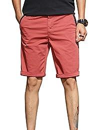 1cd40a662d Moollyfox Color Sólido Chino Pantalón Corto Bermuda De Fitness para Hombre