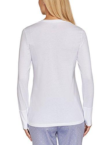 Schiesser Damen Schlafanzugoberteil Weiß (weiss 100)