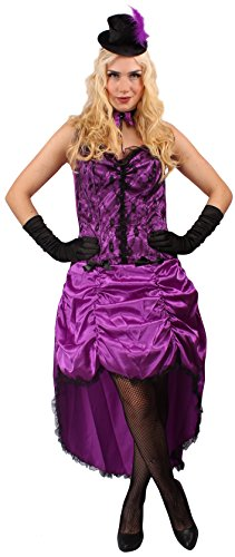 Western Kostüm Saloon Girl Gr. 44 (Für Go Erwachsene Kostüme Go Tänzerin)
