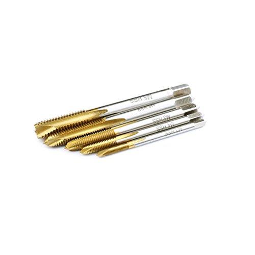 Titan beschichtet High Speed Stahl Maschine Schraube Plug Tippen High Speed Stahl Taper Plug und unten Wasserhähne Boden Gewinde Metrisches Einfädeln Wasserhahn-Set