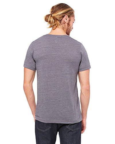 Bella Canvas-Maglietta da uomo con collo a V ASPHALT SLUB