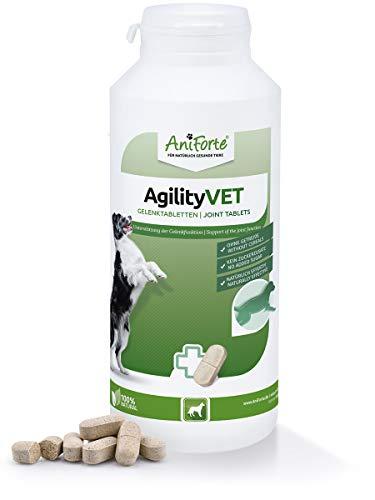 AniForte Gelenktabletten für Hunde AgilityVet 300 Stück - Natürliche Tabletten für Gelenke mit Grünlippmuschel, Teufelskralle, Collagen, Glucosamin, Chondroitin, Hohe Akzeptanz beim Hund
