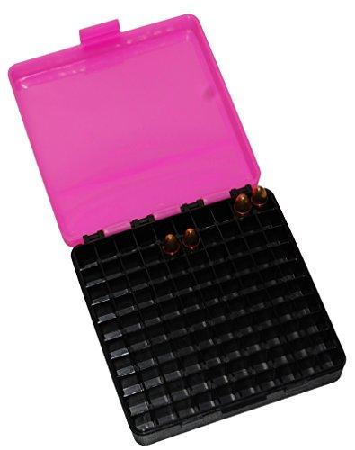 Patronenbox 9 mm Luger /.380 Auto für 100 Patronen Patronen Box Ammo Box für Wiederlader … (Pink)