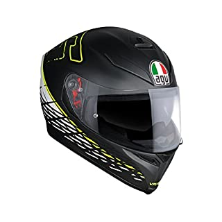 AGV 0041A0HY_001_XL K-5 S E2205 Top Helm, Thorn 46, Matt Black/White/Yellow, Größe XL