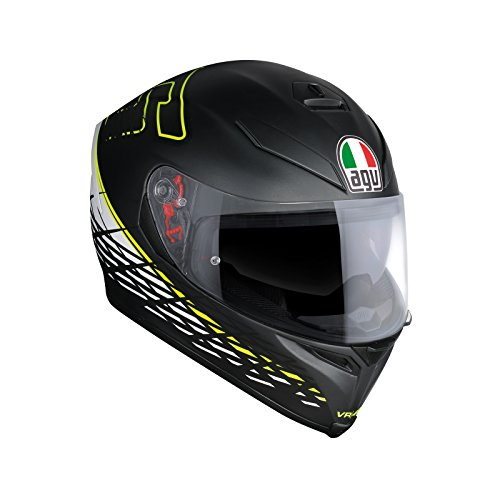 AGV Casco Moto K-5 S E2205 Top plk, Thorn 46 Matt Black/White/Yellow, L