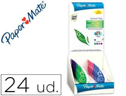 liderpapel-correttore-liquid-paper-nastro-dryline-5mm-x-85mt-espositore-da-24pezzi-colori-assortiti
