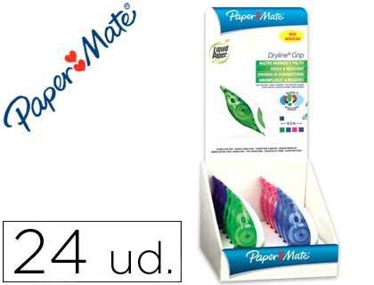 liderpapel-correttore-liquid-paper-nastro-dryline-5-mm-x-85-mt-espositore-da-24-pezzi-colori-assorti