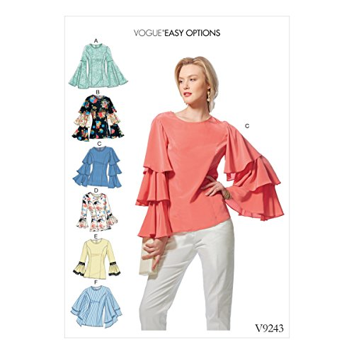 Vogue Patterns Patrons de Hauts, Multicolore, Tailles 14-22