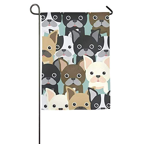 momnn Cute Puppy Garden Flag Indoor & Outdoor Decorative Flags for Parade Sports Game Family Party Wall Banner 12x18 inches