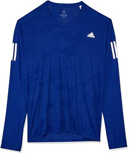 adidas Herren Response Langarm T-Shirt, Mystery Ink, M (T-shirt Herren Grafik Crewneck)