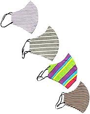 Rapsodia Cotton Unisex Anti-Pollution Striped Mask- Assorted Color