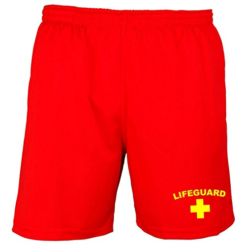 Men's Lifeguard Red Shorts - Red or Yellow - S to 2XL