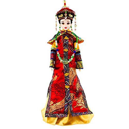 Orientalisches Dekor, chinesische Puppe mit antikem Kostüm, Seidenpuppen, 12,5 Zoll Mädchenpuppe für die - Chinesisch Inspirierte Kostüm