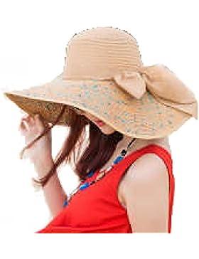 Sombrero De Playa Señora Verano Sombrero Para El Sol Protector Solar De Ala Ancha Plegable Sombrero De Paja Protección...