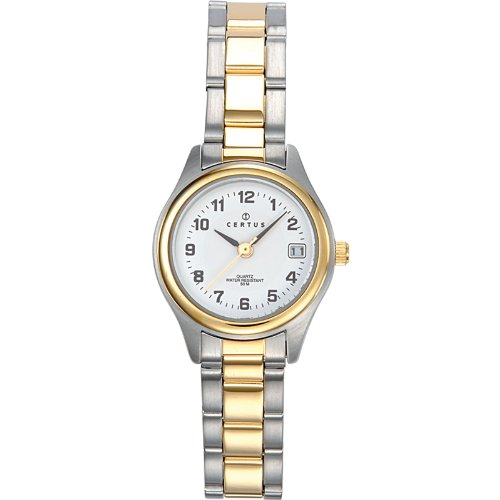 Certus - 642315 - Women's Analogue Quartz Watch with White Dial and Two-Tone Steel Strap