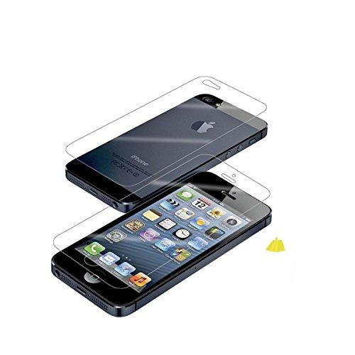 Avcibase Buchstil Flip PU Ledertasche für Apple iPhone 5/5S grün Grün