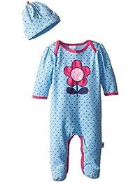 Jockey Baby-Girls Newborn Baby Girl Footed Polka Dot Coverall and Hat Set